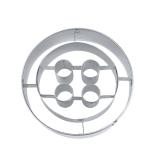 Knopf Button 6cm Ausstecher Ausstechform Edelstahl