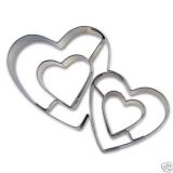 Doppeltes Herz Herzen Herzchen 7,5cm Ausstechform Ausstecher