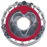 Linzer-Ausstecher mit Auswerfer Herz  ø 4,8 cm