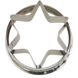 Stern mit Griff Ausstechform Ausstecher ø 9cm / 5,5cm hoch Edels
