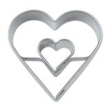 Herz in Herz 4cm Edelstahl Ausstechform Ausstecher