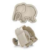 Elefant 6cm Kunststoff Präge-Ausstechform mit Auswerfer Ausstech