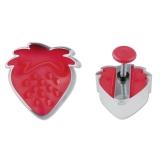 Erdbeere mit Prägung 4,5cm Edelstahl/Kunststoff Ausstechform Aus