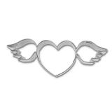 Fliegendes Herz mit Flügeln 9cm Ausstecherform Ausstecher Edelst