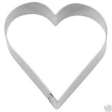 Herz ø 5,0 cm / 2,0 cm hoch Ausstechform Ausstecher Weißblech