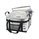 Be Cool Kühltasche Thermotasche silber-schwarz 45 Liter