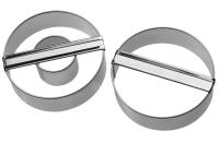Doppelring und Ring, glatt 6 cm 5 Sets Ausstechform Ausstecher