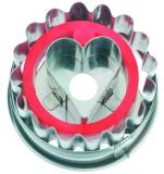 Linzer mit Herz 5 cm 10x Ausstechform Ausstecher