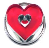 Herz mit Innenherz 4 cm 10x Ausstechform Ausstecher