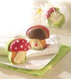 Muffinbackform Backform 4x Pilzbackform Glückspilze Dessertform
