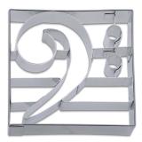Bassschlüssel Notenschlüssel 9cm Ausstechform Ausstecher Ede