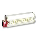 Zeitungsbox  Zeitungsrolle für Briefkästen weiß grün bronze