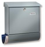 Briefkasten Postkasten mit Zeitungsfach Stahl