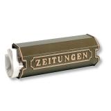 Zeitungsbox Zeitungsrolle für Zeitungen Aluguss weiß grün bronze