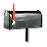 USA-Mailbox Postbox Briefkasten Postkasten Weiß /Schwarz/Alu