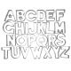Buchstaben A-Z 26tlg. 6,5cm Ausstechform Ausstecher