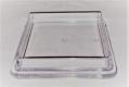 1 Stück Möbeluntersetzer eckig ca. 60 mm transparent