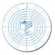 Silikon-Unterlage Backmatte Dauerbackfolie rund ø40 cm