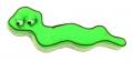 Würmchen Wurm Schlange 8cm 10x Ausstechform Ausstecher