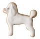 Pudel Hund 4,5cm 10x Ausstechform Ausstecher