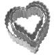 Herz, gerippt 3tlg. 4; 5 und 6 cm 10x Ausstechform Aussteche