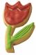 Tulpe Blume Blüte Frühling 6cm 10x Ausstechform Ausstecher