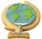 Globus Welt 7 cm 10x  Ausstechform Ausstecher