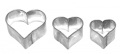 Herz 3tlg. 2,5/3/4cm 10x Heart Herzchen Ausstechform Ausstecher