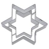 Stern Star Doppelstern 9cm Ausstechform Ausstecher Edelstahl