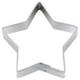 Stern 5-zackig 6cm Ausstechform Ausstecher Weißblech