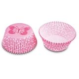 Papierbackförmchen Muffinbackförmchen Schmetterling rosa