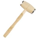 Fleischhammer Fleischklopfer Holz mit Stahlkappen 29 cm