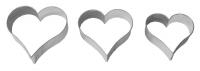 Herz 3tlg. 4/5,5/6,5cm 10x Heart Herzchen Ausstechform