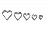Herzen 5x 5er Set Herz Herzchen Ausstechform Ausstecher