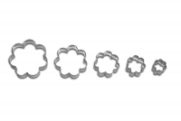 Rosetten 5x 5er Set Blume Blüte Ausstechform Ausstecher