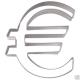 Euro-Zeichen ¤ 7,5cm Ausstechform Ausstecher Edelstahl