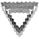Dreieck Terrassenausstecher 3-tlg 3,5/5/6cm Ausstechform Weißble