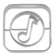 appCutter Music Note 5cm Ausstechform Ausstecher