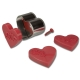 Herzen mit Auswerfer 3-tlg. 6cm Ausstechform Ausstecher