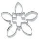 Edelweiß mit Kreuz Schweiz 6,5cm Weißblech Ausstechform Ausstech