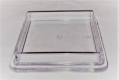 1 Stück Möbeluntersetzer eckig ca. 40 mm transparent
