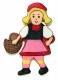 Rotkäppchen Mädchen Märchen 9,5cm 10x Ausstechform Ausstecher
